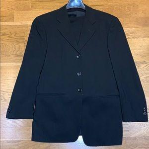 Armani Black Suit. Size 36 Jacket 30 Pant Length